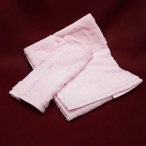 asciugamano rosa da ricamare 01