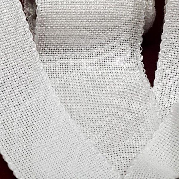bordo tela aida bianco doppia onda piccola 02