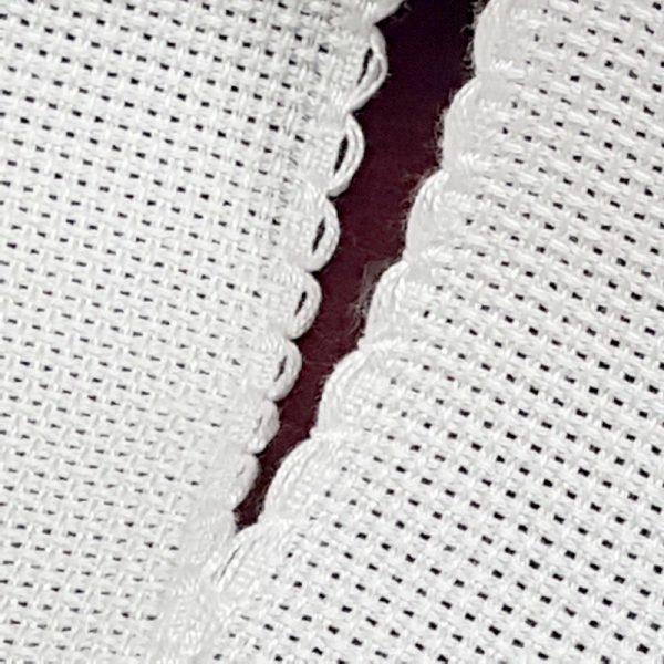 bordo tela aida bianco doppia onda piccola 03